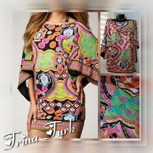 TRINA TURK Marrakech Batwing Midi Cover Up Dress